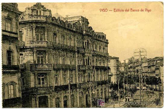 TARJETA POSTAL EDIFICIO DEL BANCO DE VIGO - EDICCION LIBRERIA BARRIENTOS VIGO (Postales - España - Asturias Antigua (hasta 1.939))