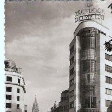 Postales: POSTAL DE OVIEDO CALLE DE SAN FRANCISCO Y AL FONDO LA CATEDRAL , ESCRITA SIN SELLO. Lote 25524226