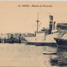 Postales: GIJÓN(ASTURIAS).-MUELLE DE FOMENTO. Lote 18068016