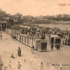 Postales: POSTAL DE GIJON PLAYA DE SANT LORENZO. Lote 20068459