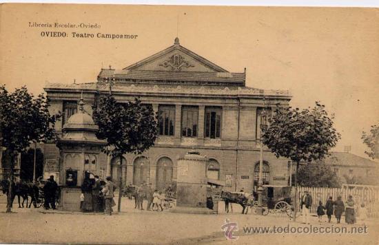 OVIEDO(ASTURIAS).-TEATRO CAMPOAMOR (Postales - España - Asturias Antigua (hasta 1.939))