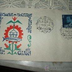 Postales: SOBRE POSTAL CON ILUSTRACIONY MATASELLOS DE LA FERIA DE MUESTRAS DE ASTURIAS DE 1980. Lote 20405847