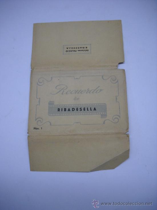 RECUERDO DE RIBADESELLA (ASTURIAS) EDIC. PALACIO. 10 POSTALES DESPLEGABLES EN SU SOBRE ORIGINAL (Postales - España - Asturias Moderna (desde 1.940))