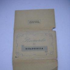 Postales: RECUERDO DE RIBADESELLA (ASTURIAS) EDIC. PALACIO. 10 POSTALES DESPLEGABLES EN SU SOBRE ORIGINAL. Lote 19974641