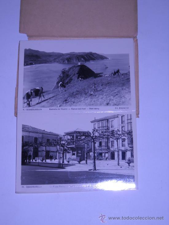 Postales: RECUERDO DE RIBADESELLA (ASTURIAS) EDIC. PALACIO. 10 POSTALES DESPLEGABLES EN SU SOBRE ORIGINAL - Foto 4 - 19974641