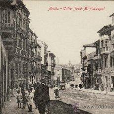 Postales: AVILÉS - CALLE JOSÉ M. PEDREGAL.. Lote 26914561