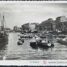 Postales: POSTAL ASTURIAS GIJON EL MUELLE . CA 1950.. Lote 27332823
