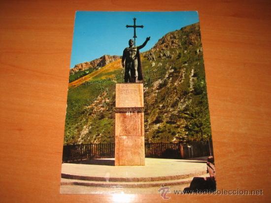 2.018-COVADONGA ESTATUA DEL REY DON PELAYO EDICIONES ARRIBAS (Postales - España - Asturias Moderna (desde 1.940))