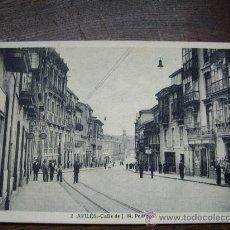 Postales: POSTAL DE AVILES ASTURIAS CALLE J.M PEDREGAL . Lote 20325324
