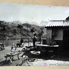 Postales: POSTAL COVADONGA, Nº 17, CANTINA Y LAGO DE LA ERCINA, CIRCULADA, 1965, EDICIONES SICILIA. Lote 20563553