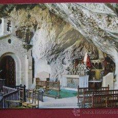 Postales: COVADONGA (ASTURIAS) LA VIRGEN DE LA CUEVA - POSTAL AÑOS 60. Lote 21126966