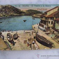 Postales: PRECIOSA POSTAL SIN CIRCULAR DE CUDILLERO,ASTURIAS.EL PUERTO Y LA RIBERA.. Lote 22840382