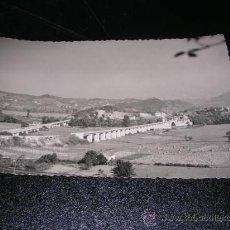 Postales: PRAVIA (ASTURIAS),PUENTE SOBRE EL NALON,M. FIGUEROLA, FOTGR. 14X9 CM.. Lote 23532705