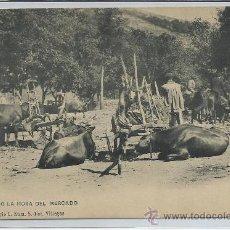 Postales: ASTURIAS-ESPERANDO LA HORA DEL MERCADO(REF-187). Lote 23953359