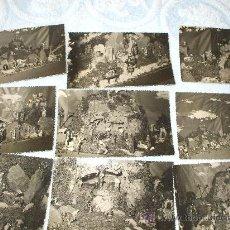 Postales: LOTE DE 9 POSTALES DEL BELEN DE CANDAS DE 1950 SELLADAS FOTO DIAZ. Lote 26062305