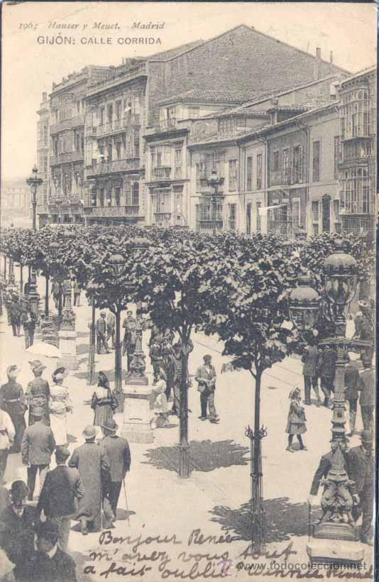 GIJÓN (ASTURIAS).- CALLE CORRIDA. (Postales - España - Asturias Moderna (desde 1.940))