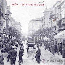 Postales: GIJÓN, CALLE CORRIDA (BOULEVARD). Lote 27082721