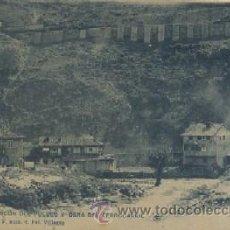 Postales: POSTAL ANTIGUA DE ASTURIAS PUENTE LOS FIERROS Y OBRA DEL FERROCARRIL P-AST-100. Lote 25743118