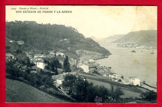 SAN ESTEBAN DE PRAVIA , ASTURIAS , Y LA ARENA , P60792 (Postales - España - Asturias Antigua (hasta 1.939))