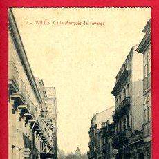 Postales: AVILES , ASTURIAS , CALLE MARQUES DE TEVERGA , P60796. Lote 26026329