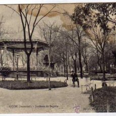 Postales: GIJÓN ASTURIAS. JARDINES DE BEGOÑA. M.N. PARIS. SIN CIRCULAR.. Lote 26058850