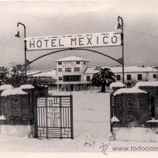 Postales: LLANES (ASTURIAS).- HOTEL MEXICO EN DÍA DE NEVADA. Lote 26345911