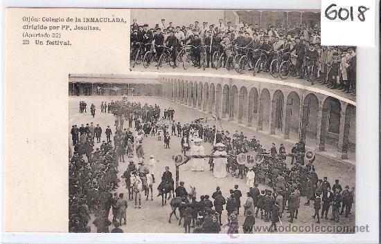 GIJON - COLEGIO DE LA INMACULADA- 23 - UN FESTIVAL - (6018) (Postales - España - Asturias Antigua (hasta 1.939))