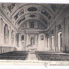 Postales: GIJON - COLEGIO DE LA INMACULADA -6 - CAPILLA DE LOS ALUMNOS - (6035). Lote 26980542