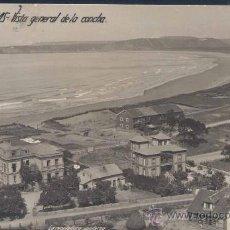 Postales: SALINAS (ASTURIAS).- VISTA GENERAL DE LA CONCHA-POSTAL FOTOGRÁFICA. Lote 27349741