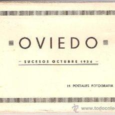 Postales: OVIEDO - SUCESOS OCTUBRE 1934- 15 POSTALES FOTOGRAFICAS EN BLOCK ACORDEON- VER FOTOS- (B-34). Lote 27362696