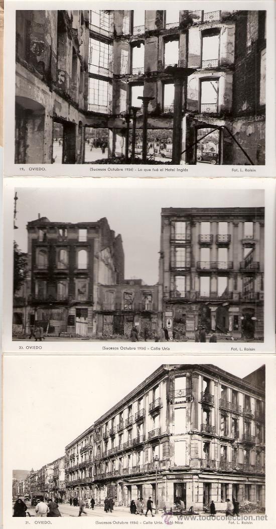 Postales: OVIEDO - SUCESOS OCTUBRE 1934- 15 POSTALES FOTOGRAFICAS EN BLOCK ACORDEON- VER FOTOS- (B-34) - Foto 3 - 27362696