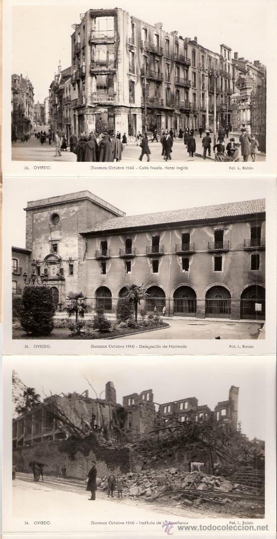 Postales: OVIEDO - SUCESOS OCTUBRE 1934- 15 POSTALES FOTOGRAFICAS EN BLOCK ACORDEON- VER FOTOS- (B-34) - Foto 4 - 27362696