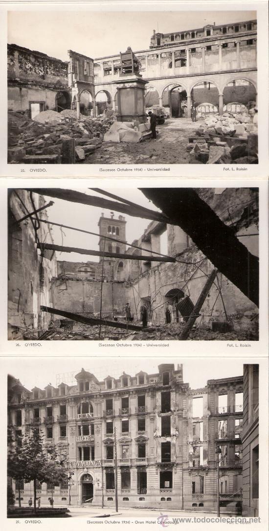 Postales: OVIEDO - SUCESOS OCTUBRE 1934- 15 POSTALES FOTOGRAFICAS EN BLOCK ACORDEON- VER FOTOS- (B-34) - Foto 5 - 27362696