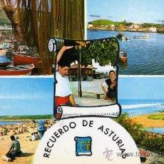 Postales: RECUERDO DE ASTURIAS ESCRITA CIRCULADA CON SELLO EDICIONES PERGAMINO . Lote 27404245