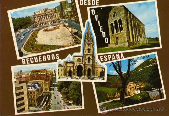 OVIEDO Nº 092 EDICIONES ALCE ESCRITA CIRCULADA SELLO SIN MATASELLAR (Postales - España - Asturias Moderna (desde 1.940))