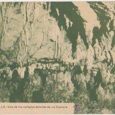 Postales: RIBADESELLA UNO DE LOS VARIADOS DETALLE DE LA CUEVONA,ED JESUS DELGADO. Lote 28001540