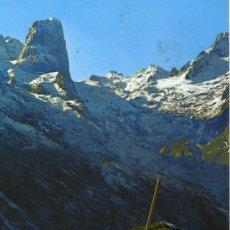 Postales: PICOS DE EUROPA Nº 35 MACIZO CENTRAL NARANJO DE BULNES EDICIONES SICILIA ESCRITA CIRCULADA SELLO. Lote 28021941