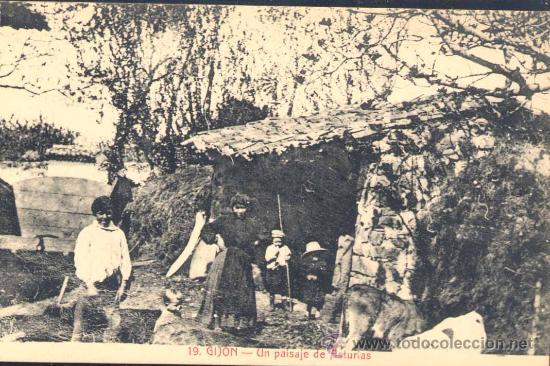 GIJÓN (ASTURIAS).- UN PAISAJE DE ASTURIAS (Postales - España - Asturias Antigua (hasta 1.939))