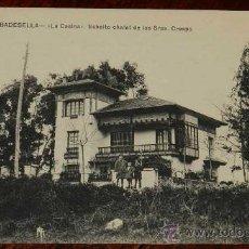 Postales: ANTIGUA POSTAL DE RIBADESELLA (ASTURIAS) LA CASINA, ESBELTO CHALET DE LOS SRES. CRESPO - ED. JESUS D. Lote 28762884