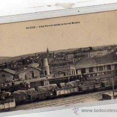 Postales: ASTURIAS. OVIEDO. VISTA PARCIAL DESDE LA CARCEL MODELO. TREN, FERROCARRIL, VAGONES. M.G. OVIEDO.. Lote 74150909