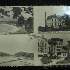 Postales: TARJETA POSTAL. RIBADESELLA. VISTAS PANORÁMICAS. FOTOMELY. OVIEDO. AÑOS 40.. Lote 29026152