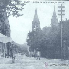 Postales: GIJÓN (ASTURIAS).- IGLESIA DE SAN PEDRO DE BEGOÑA. Lote 29301110