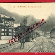 Cartes Postales: COVADONGA, ASTURIAS, ESTACION DEL TRANVIA, P65284. Lote 29383795