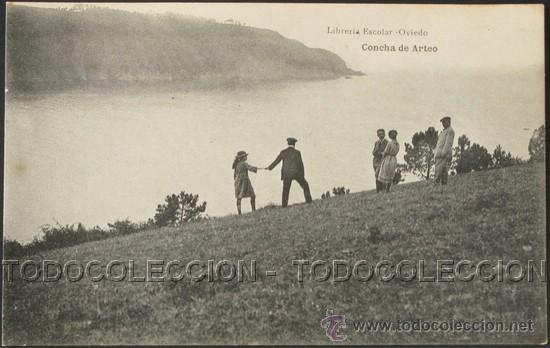 POSTAL ASTURIAS CONCHA DE ARTEO . ESCOLAR - H. MENET CA AÑO 1920 . (Postales - España - Asturias Antigua (hasta 1.939))