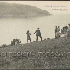 Postales: POSTAL ASTURIAS CONCHA DE ARTEO . ESCOLAR - H. MENET CA AÑO 1920 .. Lote 29852670
