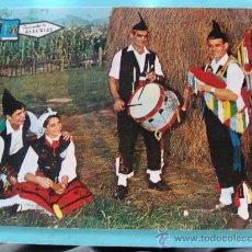 Cartes Postales: POSTAL DE ASTURIAS. AÑO 1968. FOLKLORE ASTURIANO. GAITEROS. MOCITOS A BAILAR. 878. . Lote 29955951
