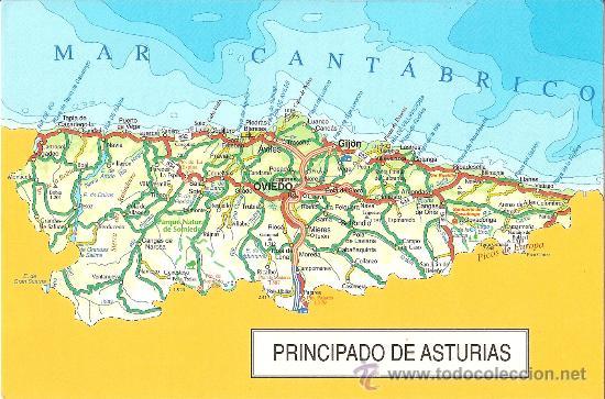 Mapa Principado De Asturias Nueva Sold Through Direct Sale