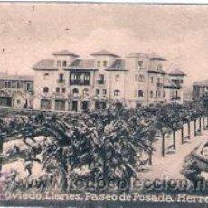 Postales: POSTAL ORIGINAL DECADA DE LOS 30. OVIEDO, LLANES, PASEO POSADA HERRERA. Nº361. VER EXPLICACION.. Lote 30145917