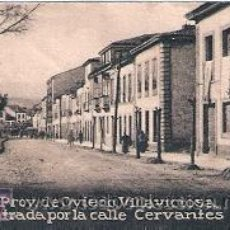 Postales: POSTAL ORIGINAL DECADA DE LOS 30. OVIEDO, VILLAVICIOSA, C/ CERVANTES. Nº 357. VER EXPLICACION.. Lote 30145994