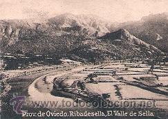 POSTAL ORIGINAL DECADA DE LOS 30. OVIEDO, RIBADESELLA, VALLE DEL SELLA. Nº 348. VER EXPLICACION. (Postales - España - Asturias Moderna (desde 1.940))
